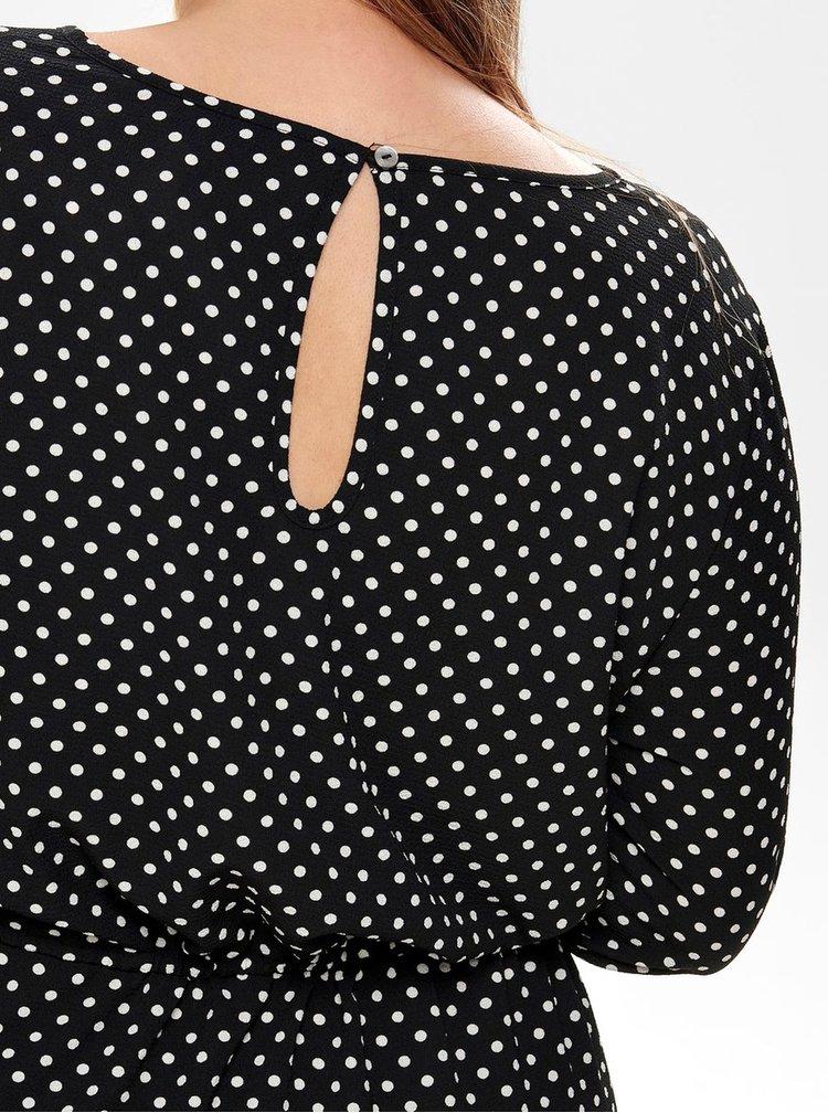 Bílo-černé puntíkované šaty ONLY CARMACOMA Lux Cecilia