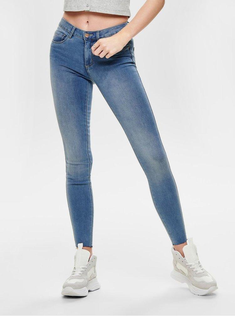 Modré zkrácené skinny džíny ONLY Royal