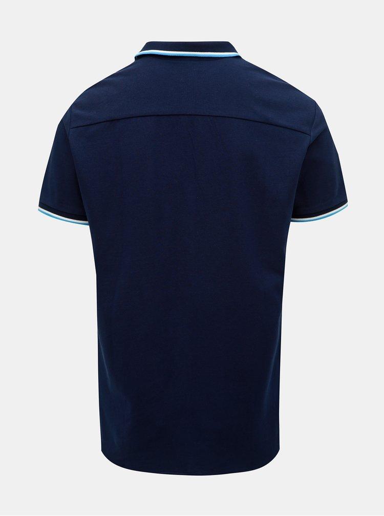Tmavomodrá slim fit košeľa Jack & Jones Ebti
