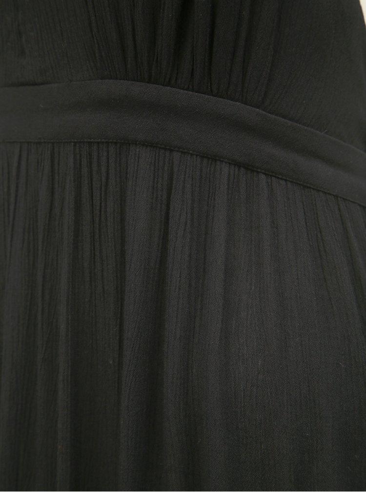 Černé maxišaty s odhalenými zády Miss Selfridge