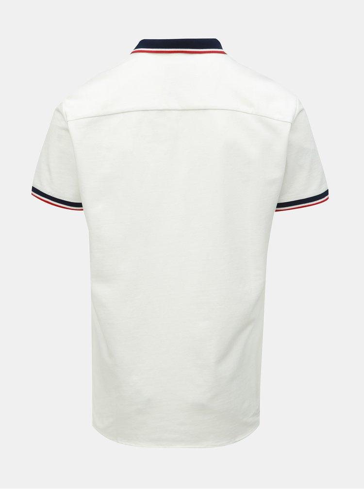 Biela slim fit košeľa Jack & Jones Ebti