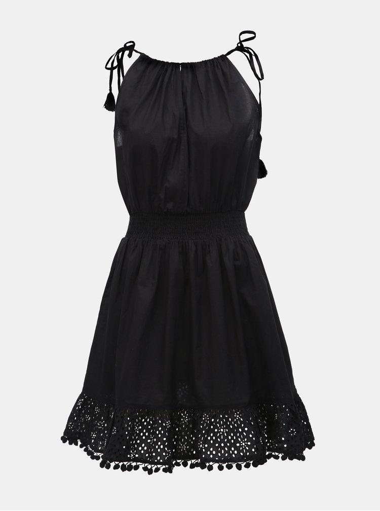 Černé šaty s krajkou a korálky Miss Selfridge
