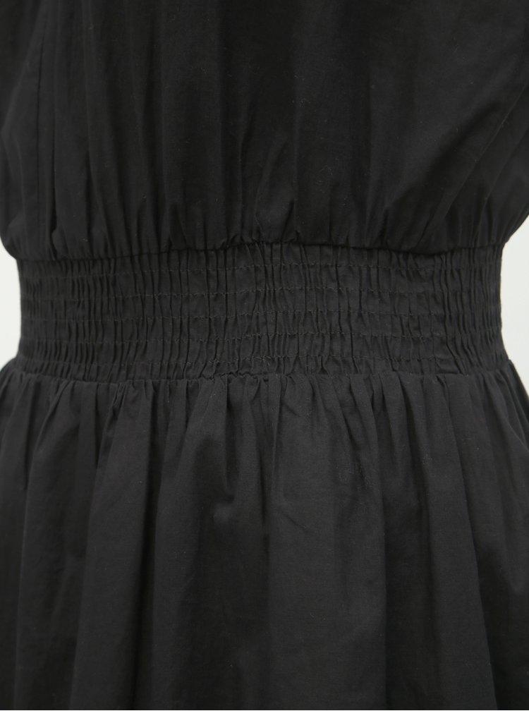 Čierne šaty s čipkou a korálkami Miss Selfridge