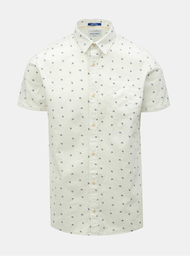 Biela vzorovaná košeľa Jack & Jones Luis
