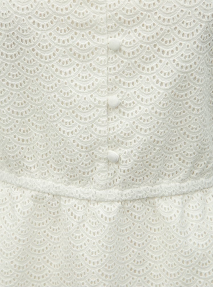 Krémové čipkované šaty Miss Selfridge