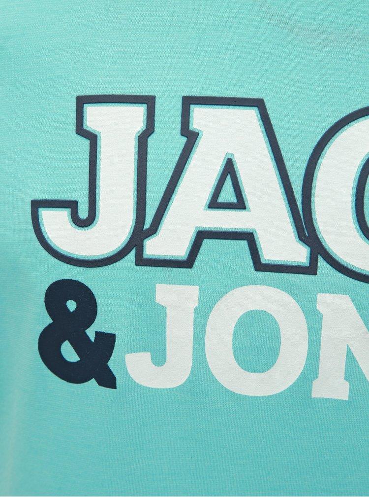 Svetlomodré tričko s potlačou Jack & Jones Nine