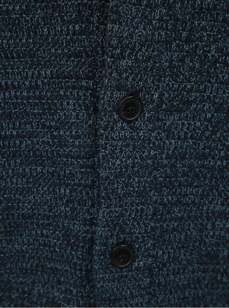 Modrý žíhaný kardigan Selected Homme Victor