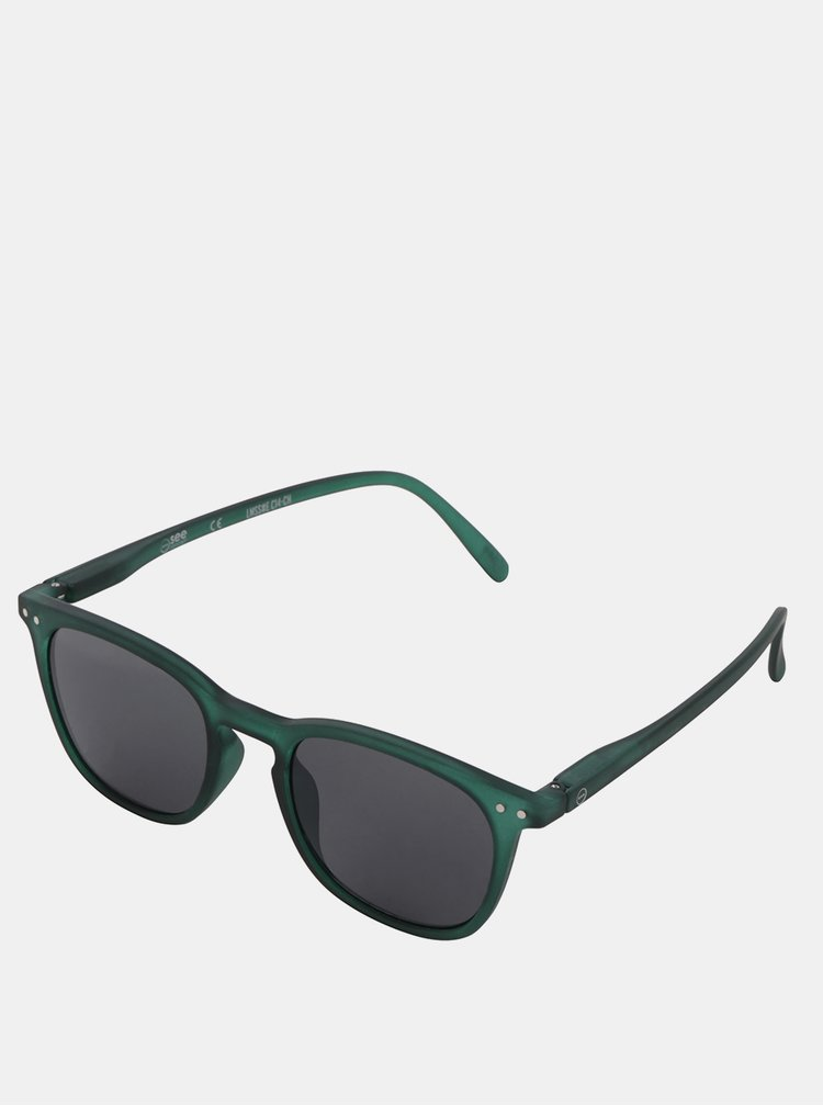 Zelené slnečné okuliare s čiernymi sklami IZIPIZI #E
