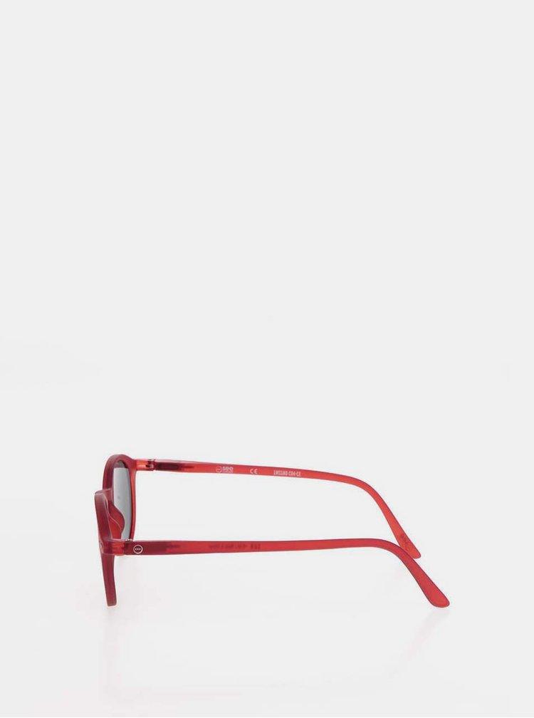 Červené sluneční brýle s černými skly IZIPIZI #D