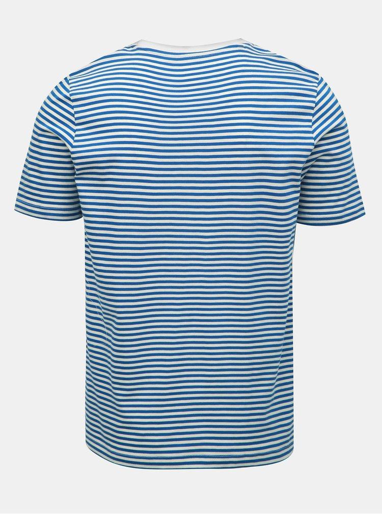 Bílo-modré pruhované basic tričko Selected Homme The Perfect