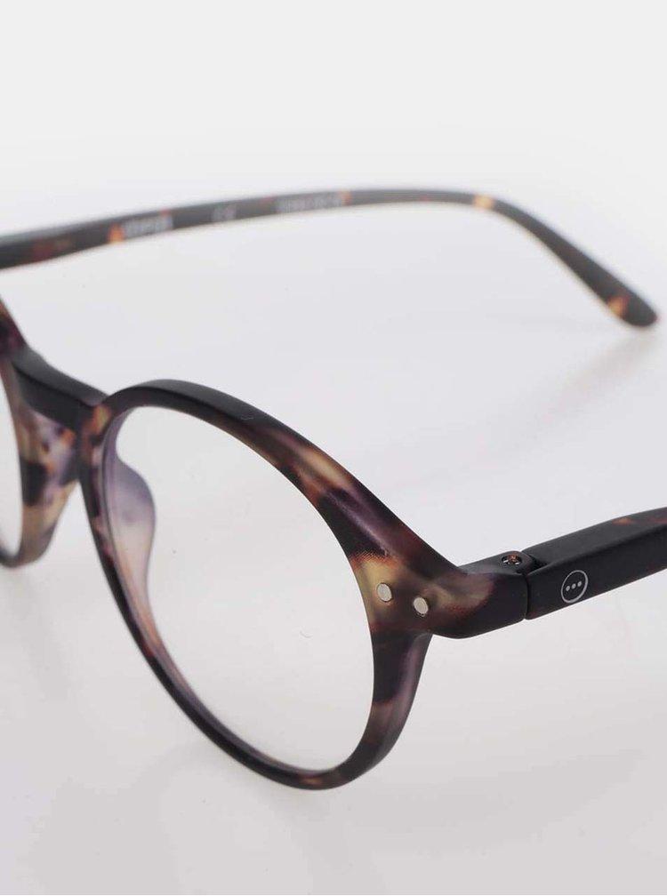 Černo-hnědé vzorované unisex ochranné brýle k PC IZIPIZI #D