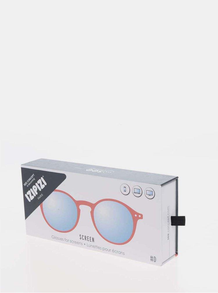 Červené ochranné brýle k PC IZIPIZI #D