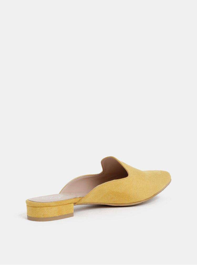 Hořčicové pantofle v semišové úpravě OJJU Lyon