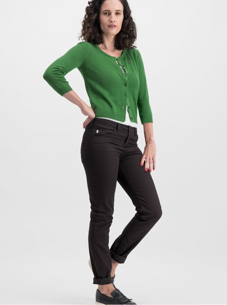 Cardigan verde cu model Blutsgeschwister Logo Wonderwaist