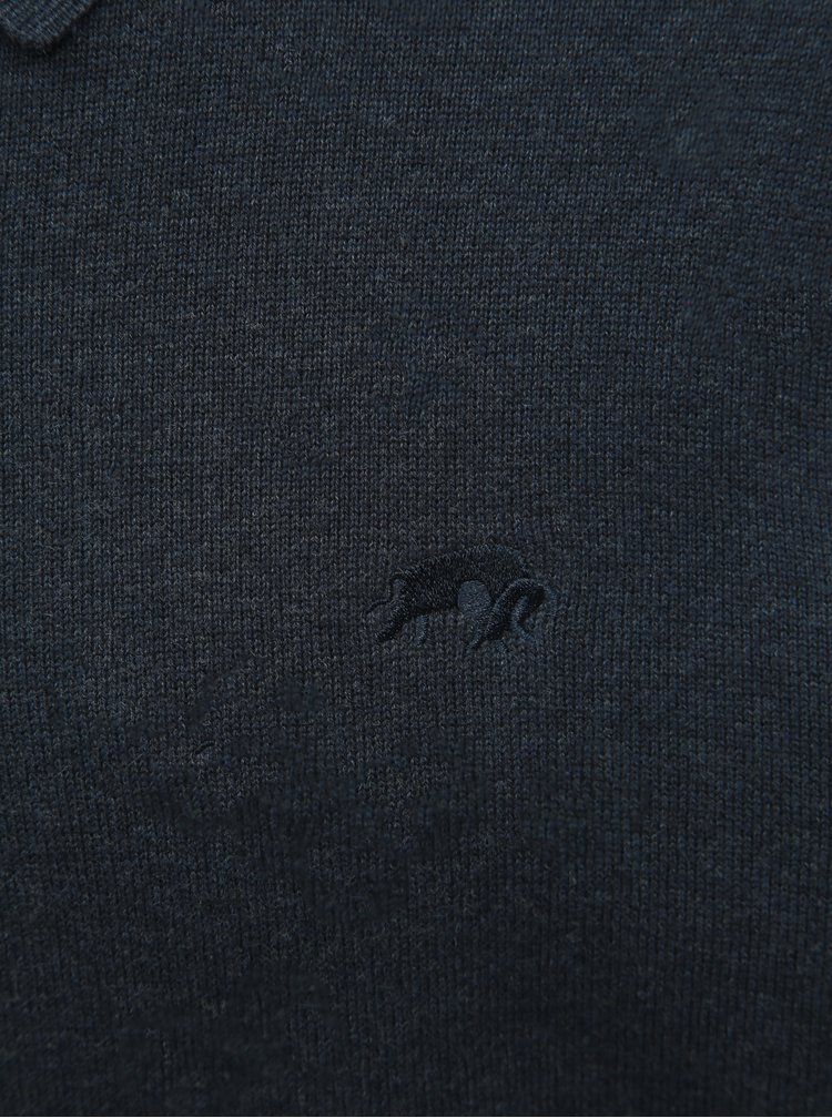 Tmavě modrý basic svetr Raging Bull