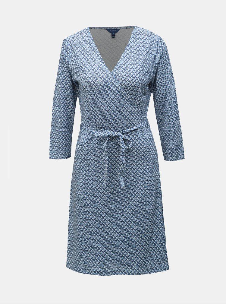 Modré zavinovací vzorované šaty GANT