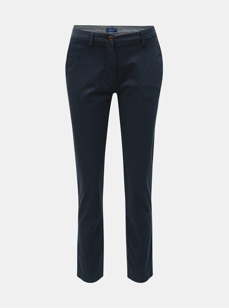 Tmavě modré dámské chino kalhoty GANT