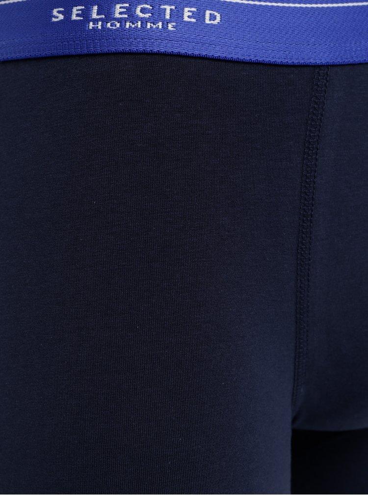 Tmavomodré boxerky Selected Homme Colour