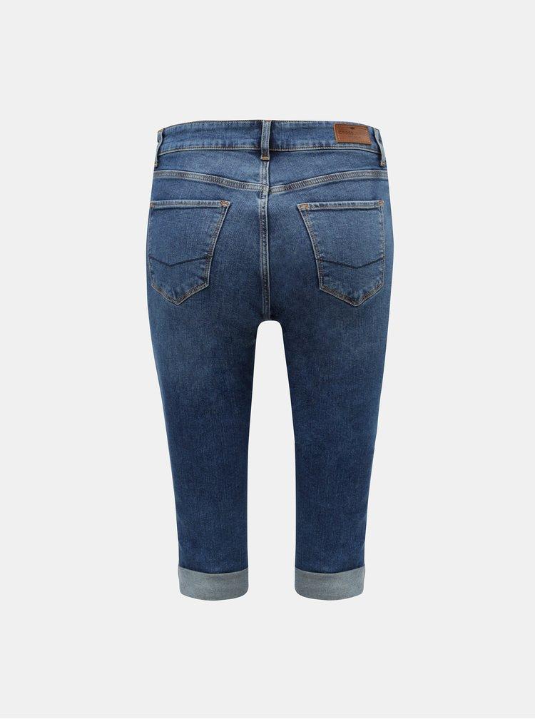 Tmavomodré dámske rifľové kraťasy Cross Jeans Adele