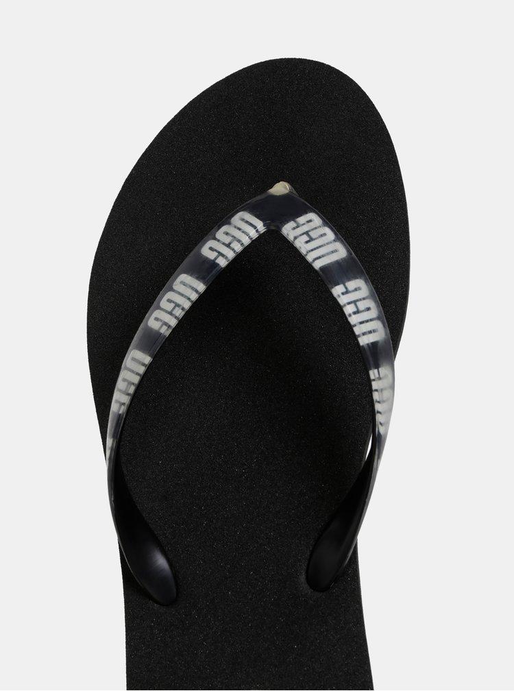 Papuci flip-flop negri de dama UGG