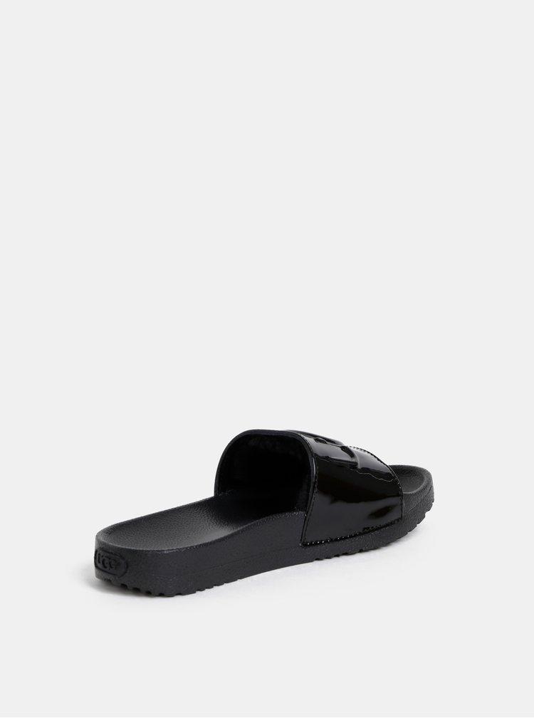 Papuci negri de dama cu blana interioara UGG
