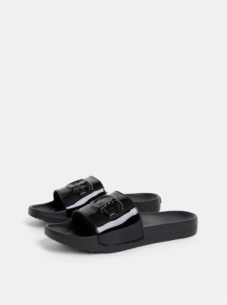 Černé dámské pantofle s vnitřním kožíškem UGG