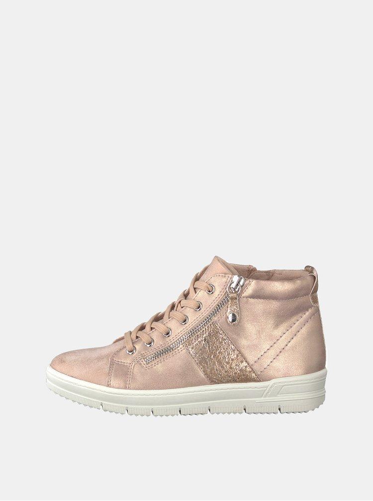 Pantofi sport scurti roz deschis cu aspect metalic Tamaris Pepai