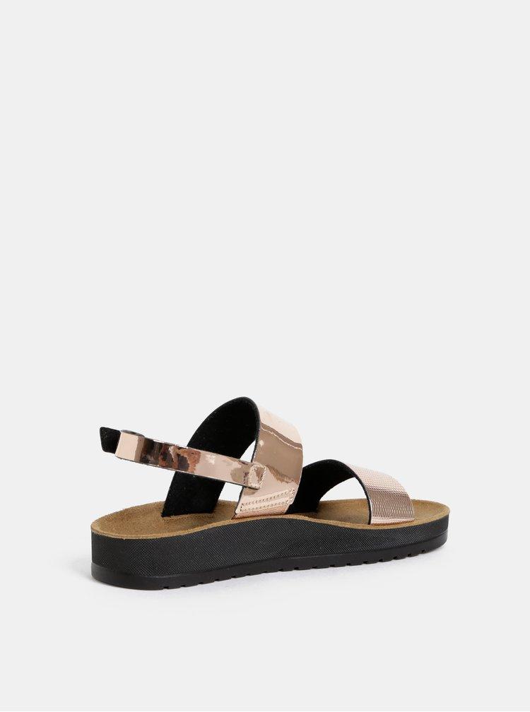 Dámske sandále v ružovozlatej farbe Scholl Cynthia Sandal