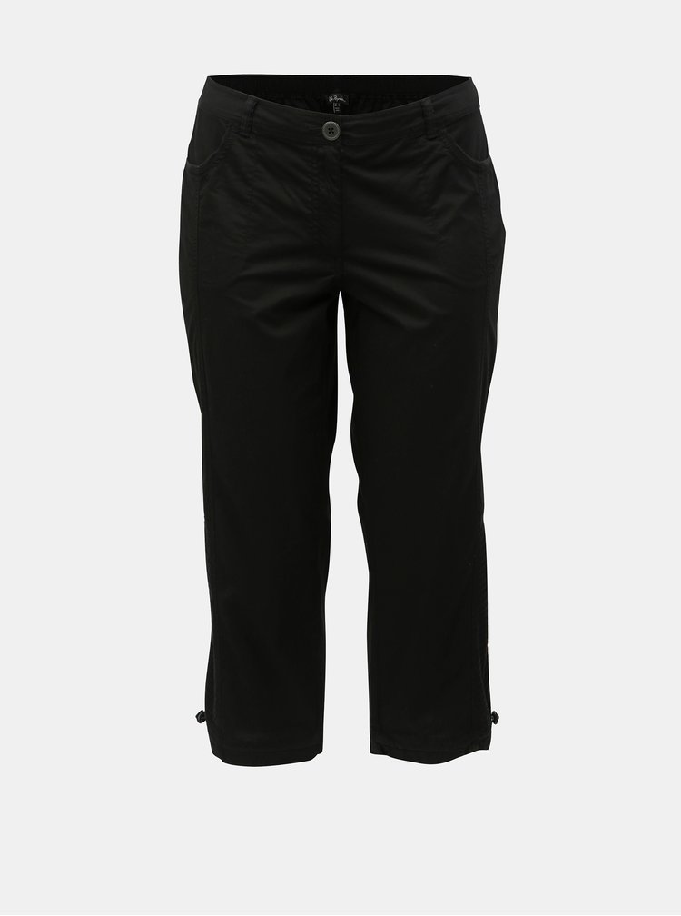 Pantaloni 3/4 negru Ulla Popken