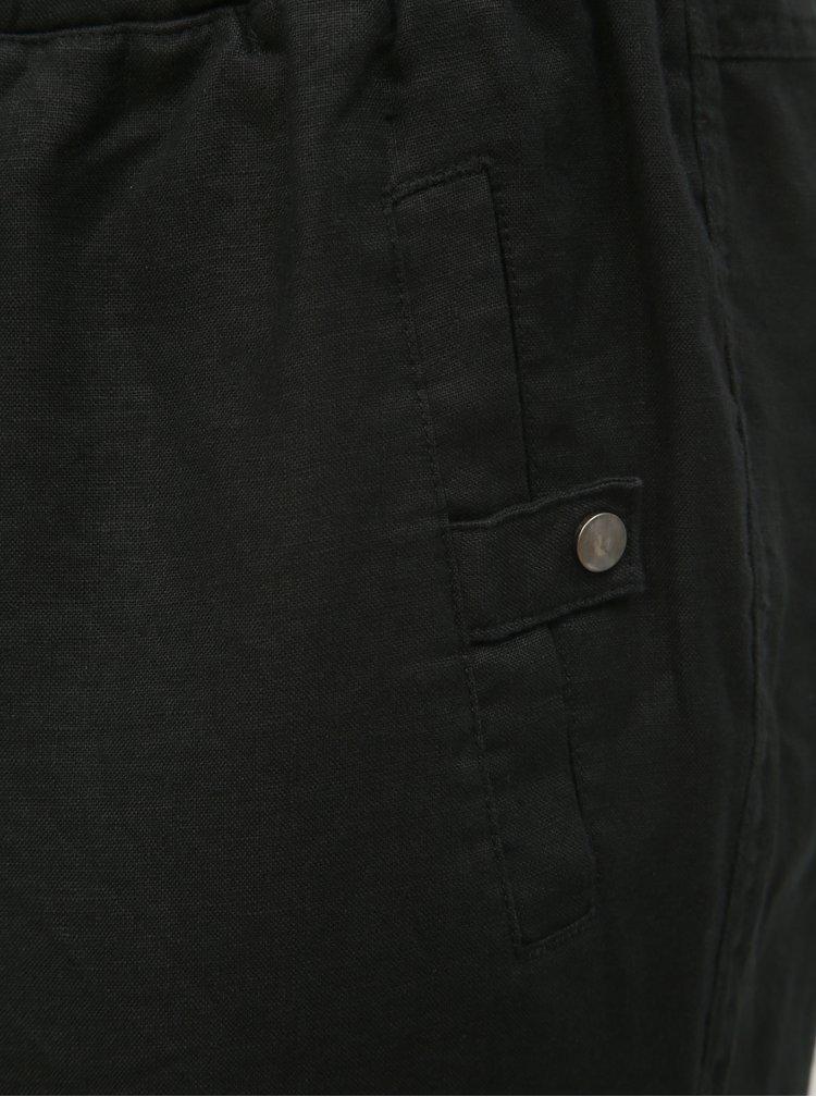 Čierne ľanové 3/4 nohavice Ulla Popken