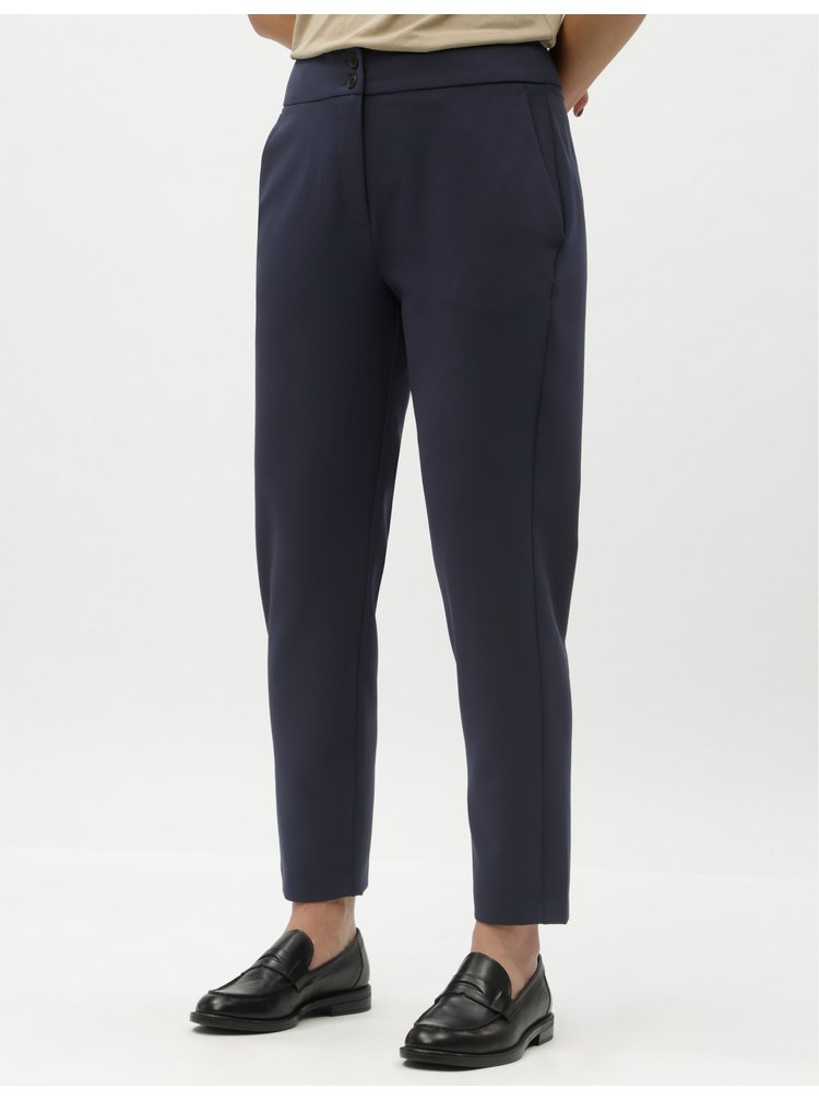 Tmavě modré kalhoty VERO MODA Bally