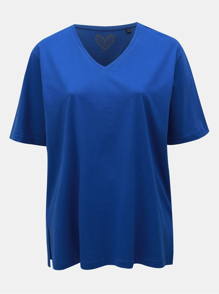 Tricou basic albastru Ulla Popken