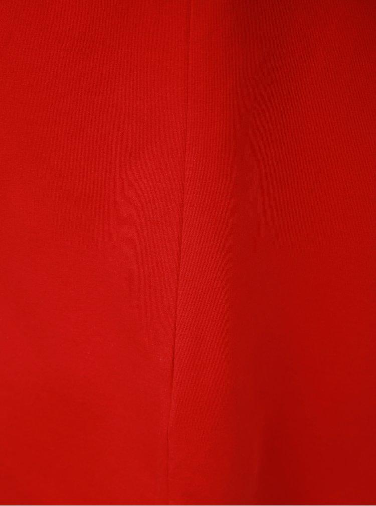 Červené tričko s pásikmi v dekolte Ulla Popken