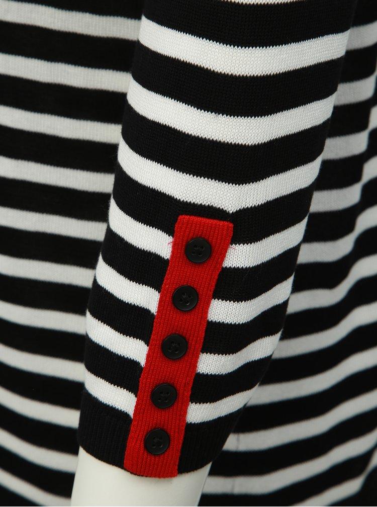 Pulover lejer negru-rosu in dungi Ulla Popken