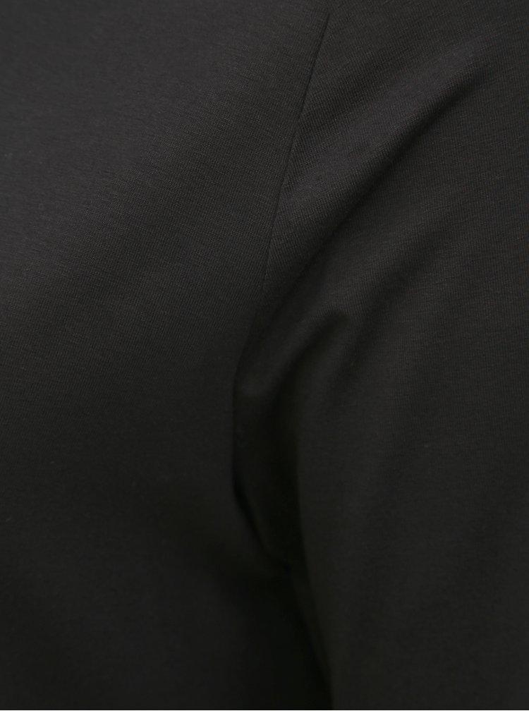 Černé tričko s krajkou Ulla Popken
