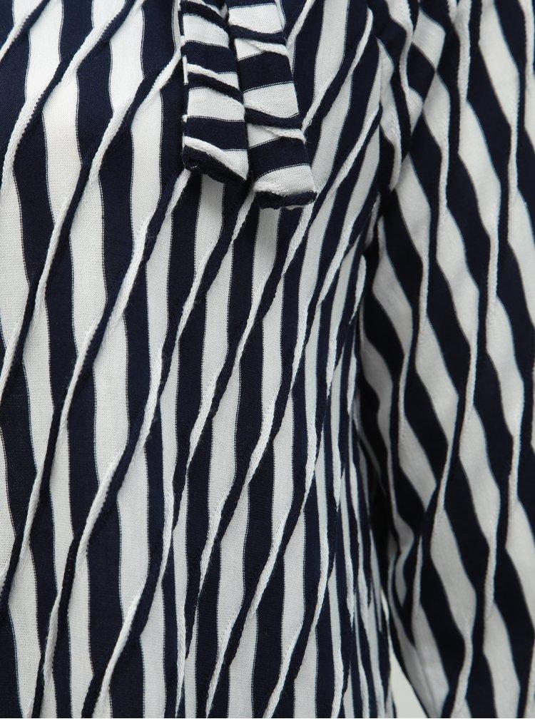 Bílo-modré pruhované šaty Ulla Popken