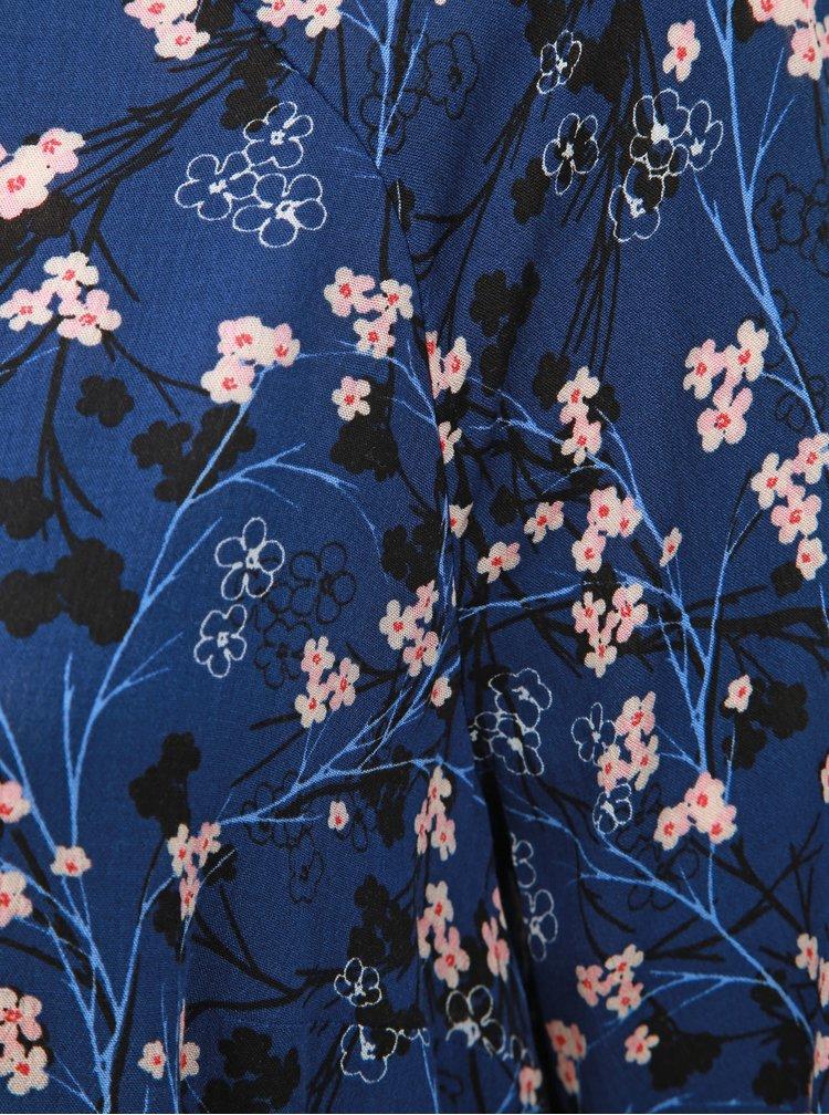 Bluza albastru inchis florala Ulla Popken
