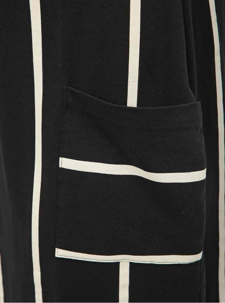 Čierne pruhované midišaty Ulla Popken