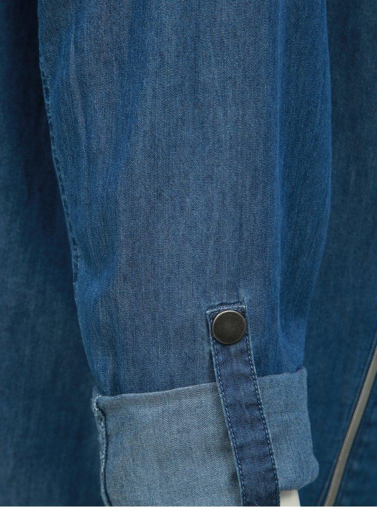 Sacou albastru din denim Ulla Popken