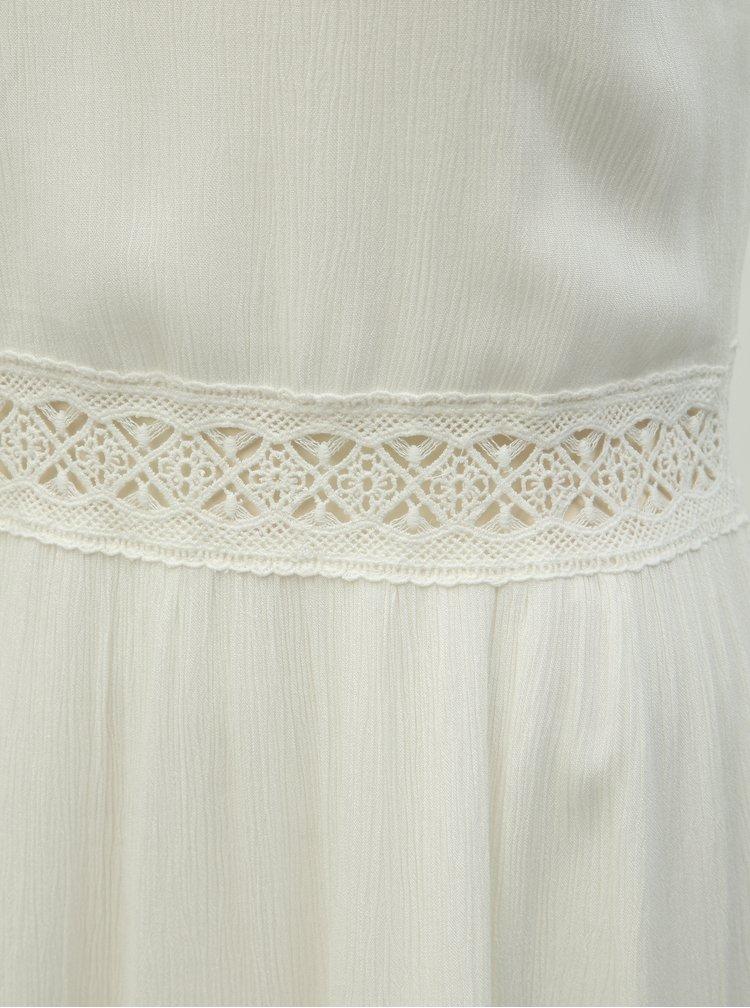 Rochie alba cu bretele si detalii din dantela ONLY Karmen Anne