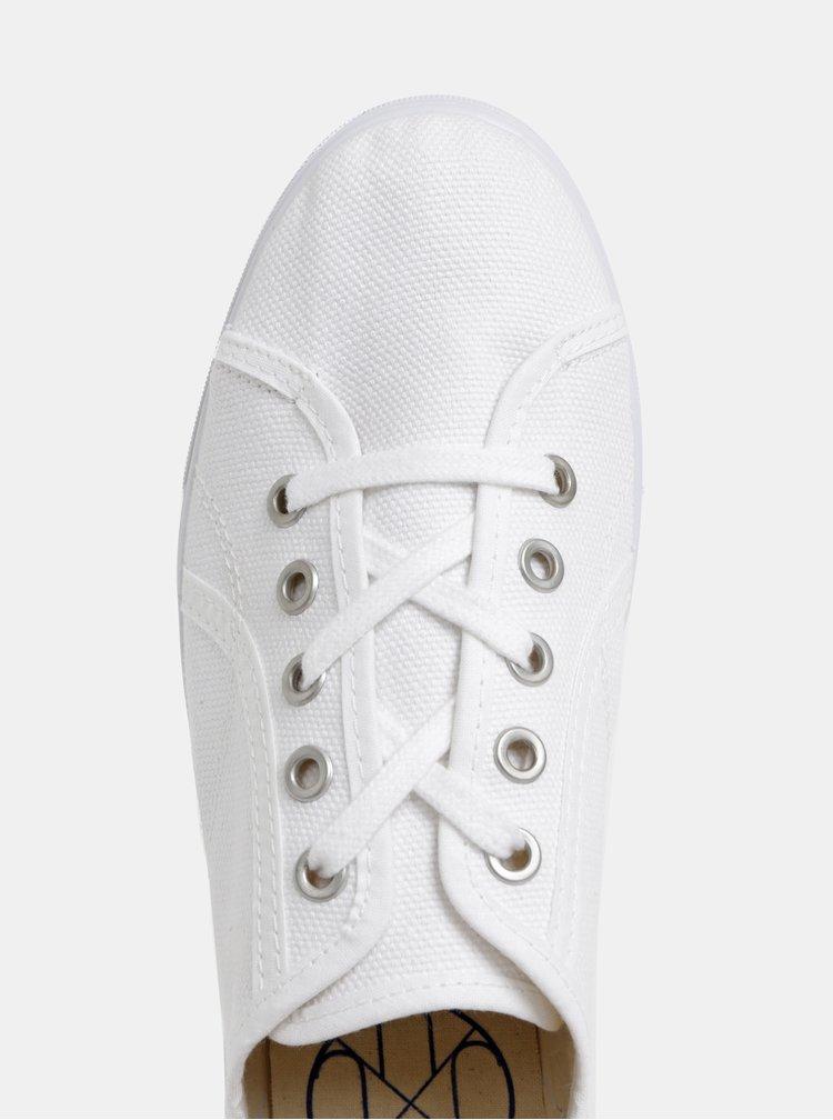 Biele tenisky na platforme OJJU