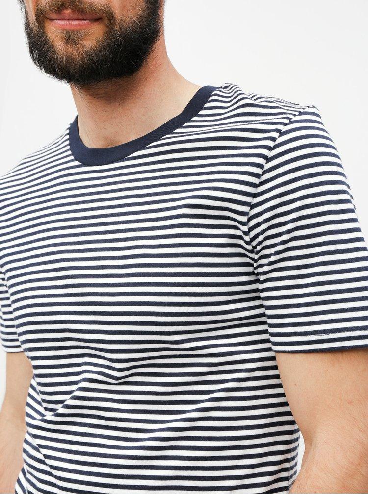 Bielo–modré pruhované tričko Selected Homme Perfect