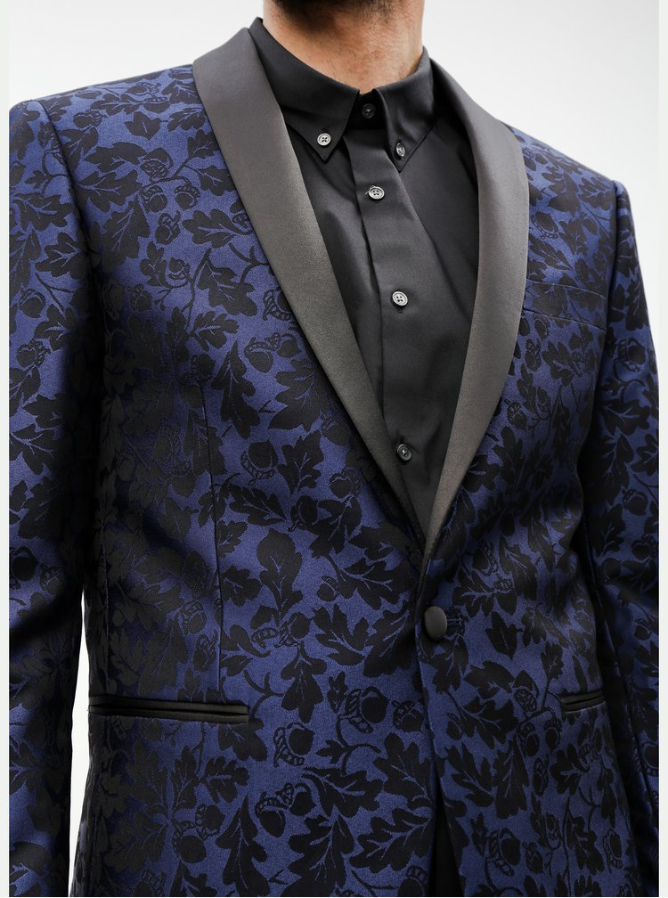 Čierno–modré vzorované sako Lindbergh