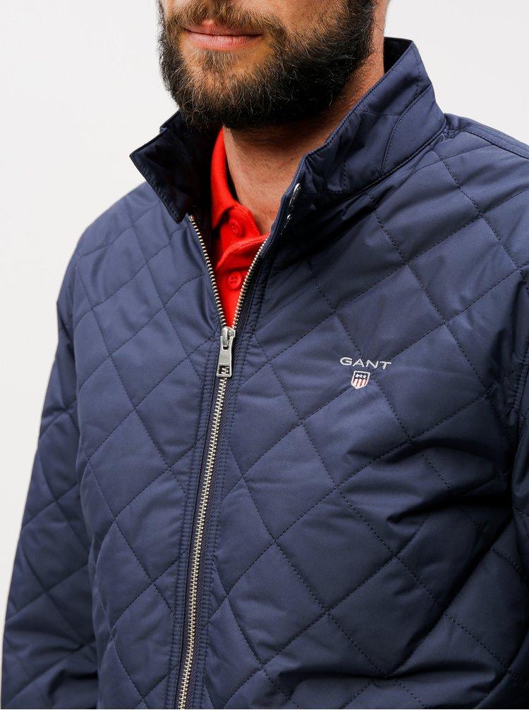 Tmavě modrá pánská prošívaná bunda GANT