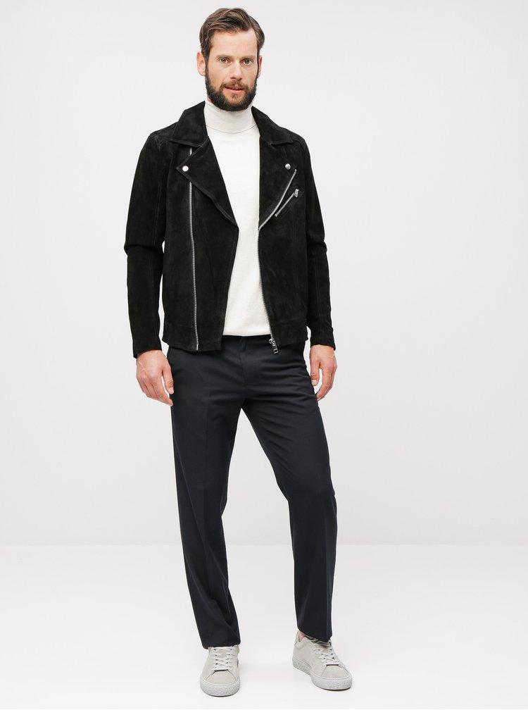 Černé pruhované tailored fit kalhoty Burton Menswear London