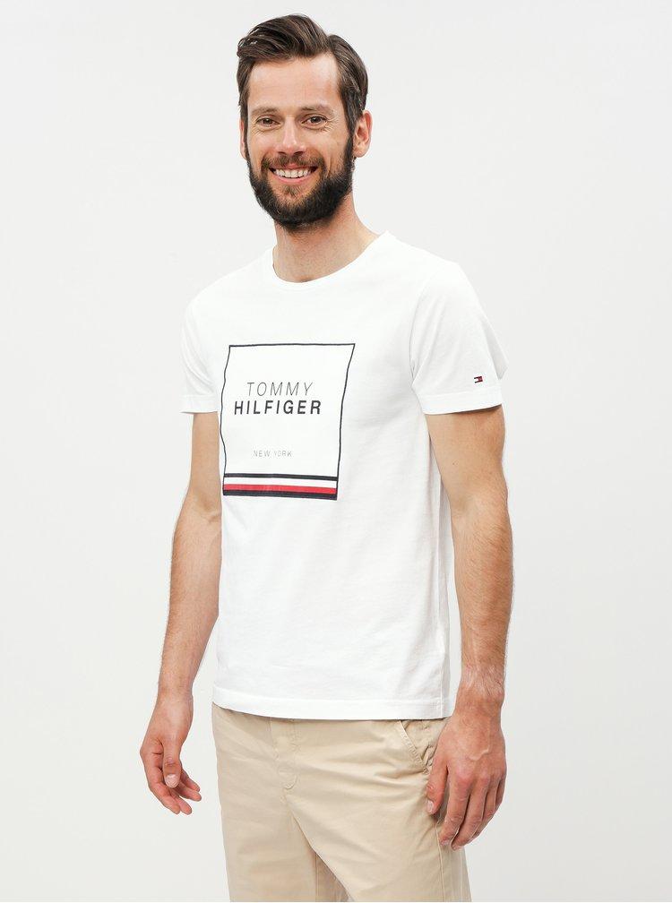 Bílé pánské tričko s nášivkou Tommy Hilfiger