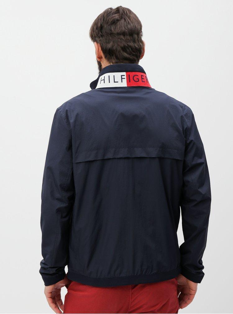 Tmavě modrá pánská voděodpudivá bunda Tommy Hilfiger