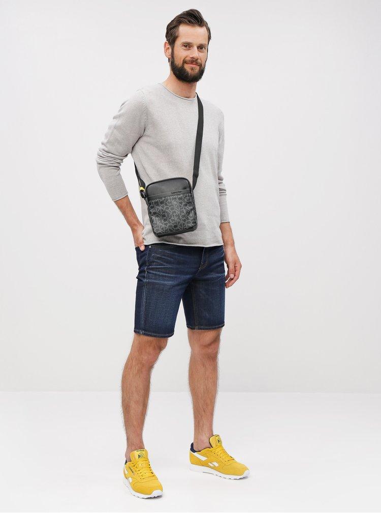 Černá pánská vzorovaná crossbody taška Calvin Klein Jeans