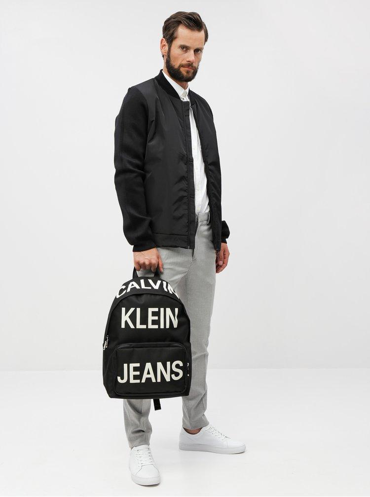 Čierny batoh s potlačou Calvin Klein Jeans