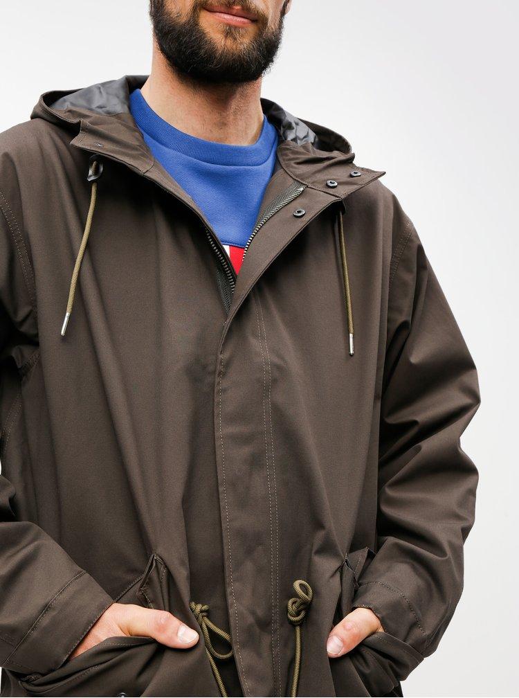 Jacheta parka maro inchis lejera Burton Menswear London